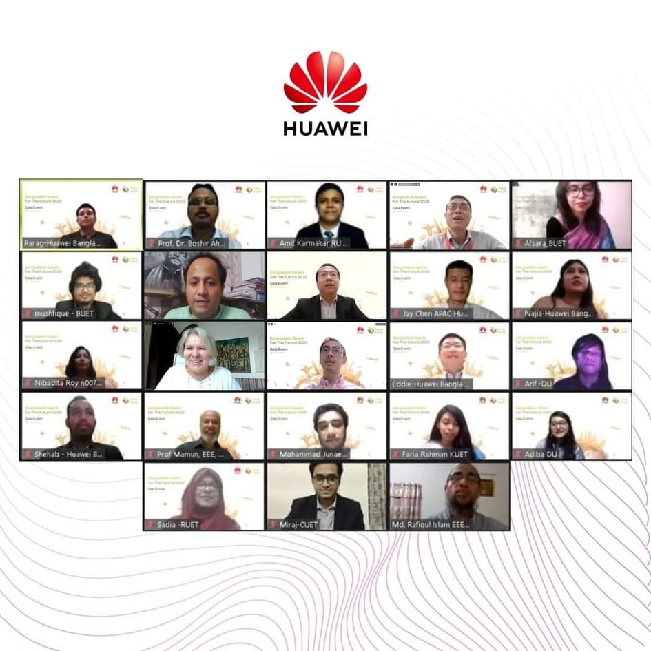 Congratulations Sadia and Amit Karmakar  :  Huawei  Seeds for the Future 2020  Gala Round