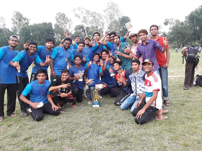 CSE Cricket Team won The Trophy at RUET Inter Department Cricket Tournament