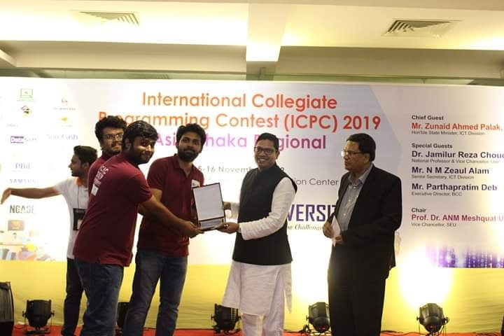 Team RUET_Narsil Placed 10th Position at ICPC-2019